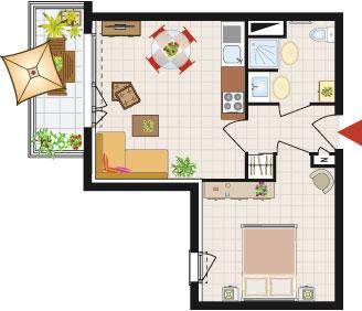 C t 8e marseille 8 me 13008 promogim plan immobilier - Bureau de poste marseille 13008 ...