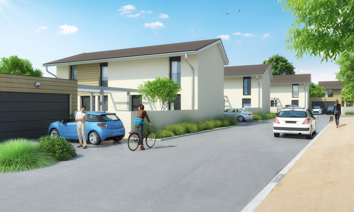 Les pommi res beynost 01700 maisons axial plan for Achat maison neuve 01700